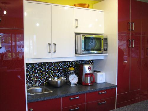 Ikea abstrakt red for Kitchen cabinets jeddah