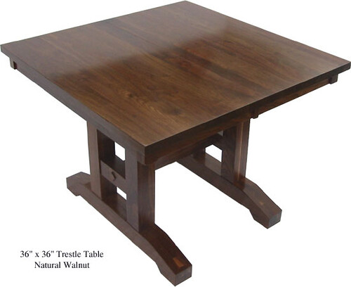 Square Trestle Table 36 Inch Black Walnut Flickr Photo Sharing