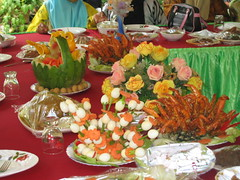 meal, flower arranging, flower, christmas dinner, floral design, buffet, food, dish, floristry,
