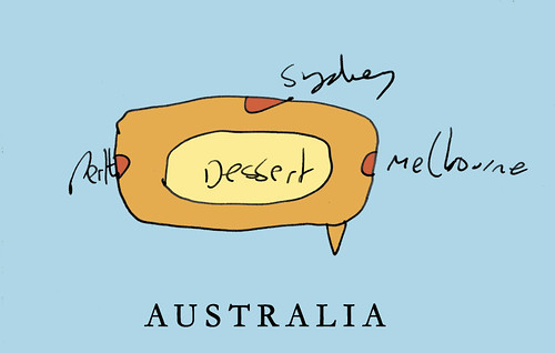 Australia map from memory
