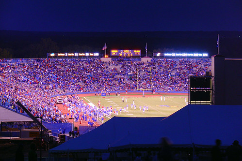kansas ku jayhawks universityofkansas football toledo big12 ncaa collegefootball memorialstadium september 2007 lawrence kansasjayhawks nightphoto nightphotograph nightphotography nightimagery night