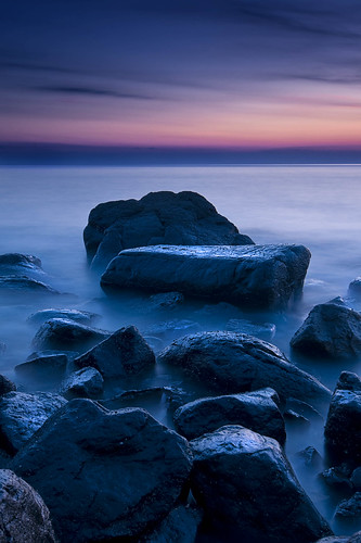 light sea beach sunrise dawn scotland rocks fife estuary coastline gloaming kinghorn d300 slowwater leefilters
