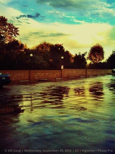 LA rain.