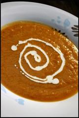 Soupe de potiron à la coriandre et gingembre