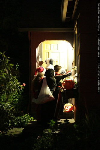 big kid trick or treaters