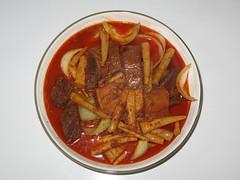 fish(0.0), seafood(0.0), produce(0.0), tteokbokki(0.0), vegetable(1.0), meat(1.0), asam pedas(1.0), food(1.0), dish(1.0), cuisine(1.0),