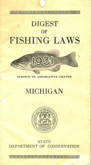 1931 michigan fishing license guide 1931 michigan for Michigan fishing regulations