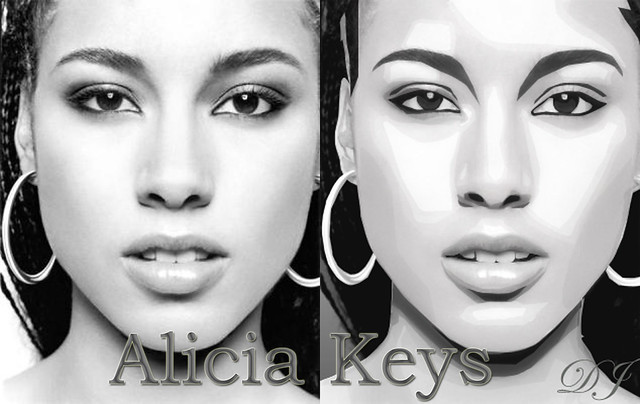 Alicia Keys Real Picture With Mine