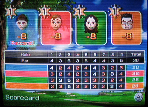 Four times eight - Wii Golf  :o)