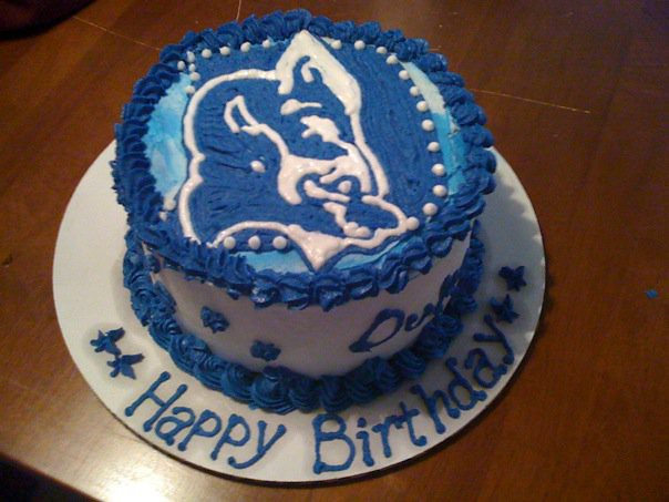 Duke Blue Devil Birthday Cake Duke Blue Devil Cake All
