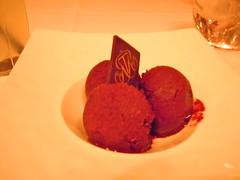 cake(0.0), baking(0.0), chocolate truffle(0.0), produce(0.0), chocolate(0.0), ice cream(1.0), sweetness(1.0), food(1.0), dessert(1.0), sorbet(1.0),