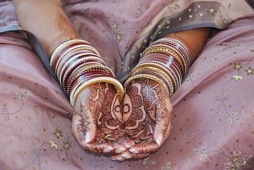 anjali's hands mehndi (henna) stain
