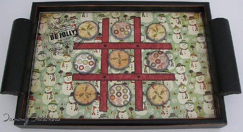 Fruitcake Tic Tac Toe tray