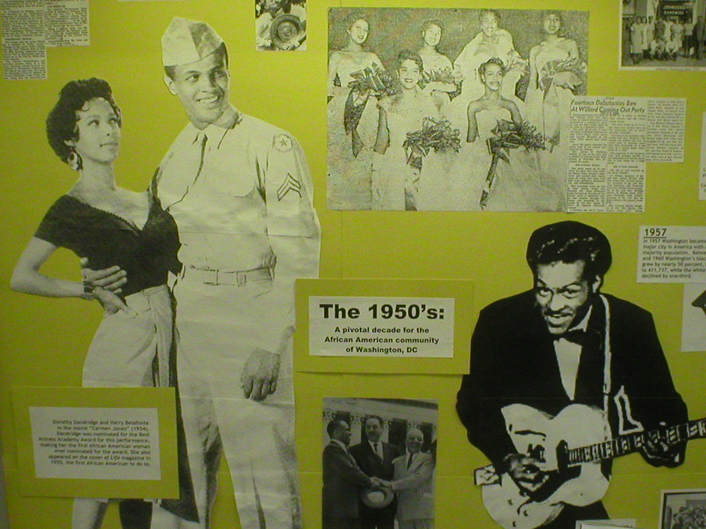 Black History Month display: The 1950's