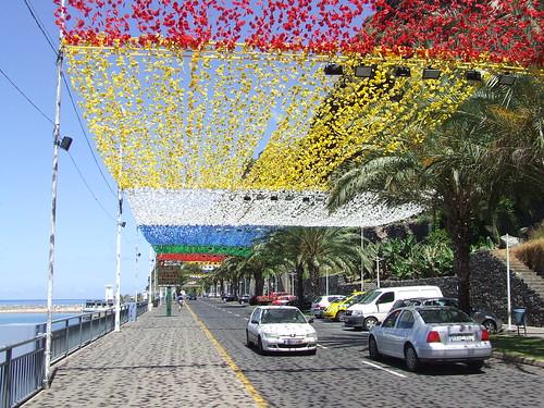 Madeira - Calheta Beach with Street Bunting