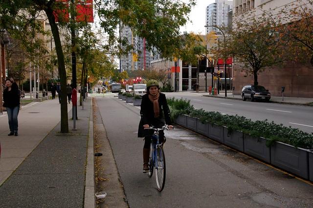 Dunsmuir Separated Bike Lanes 216