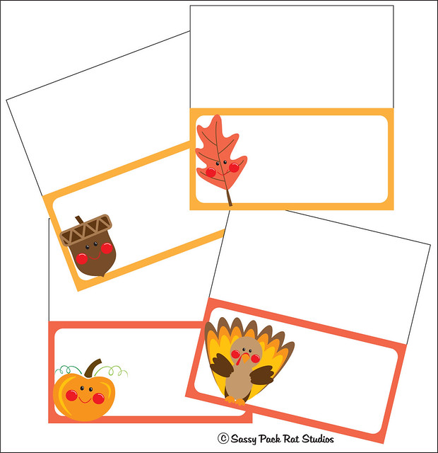 thanksgiving place cards free printable flickr photo sharing