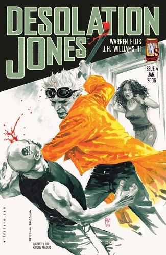 Desolation Jones - issue 4, final cover