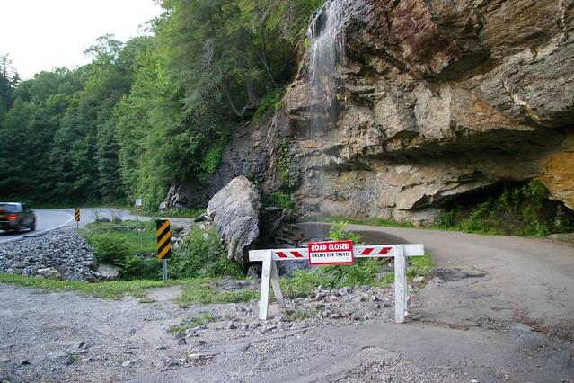 Bridal Veil Falls, NC - Rock Slide