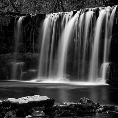longexposure blackandwhite monochrome wales waterfall brecon beacons sgwd uchaf waterfallcountry ddwli afsdxzoomnikkor1755mmf28gifed explorehighestposition14onsaturdaynovember132010