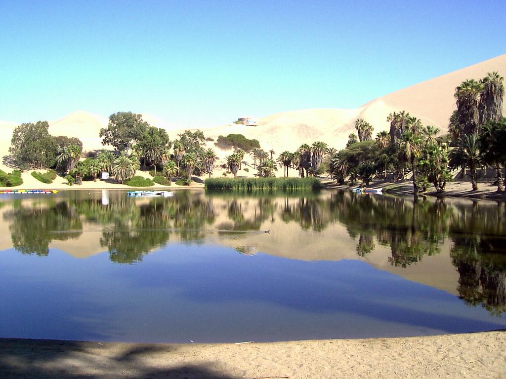 ワカチナの村にある小さな湖