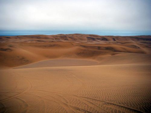 Quad biking in dunes
