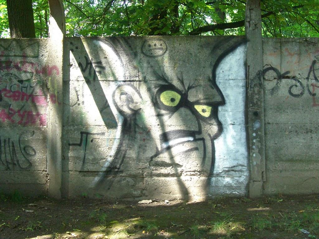 graffiti | grumpy face | krakow 2007