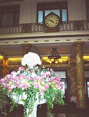 06-20-05-Original Lackawanna Station clock in Radisson lob