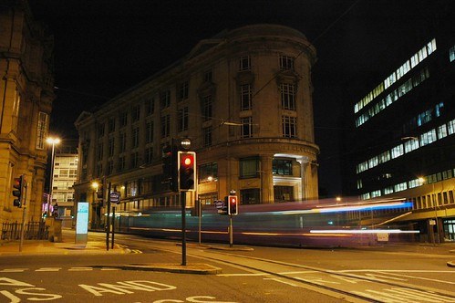Tram Passed at Sheffield Night