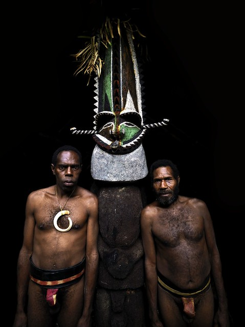 Chieftain Sekor and his father, Ambrym, Vanuatu