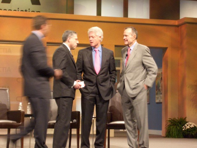 Bill Clinton and George Bush Senior