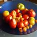 19 août 2007 Tomates et mirabelles dans plat bleu (6) ©melina1965