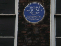 Photo of Thomas De Quincey blue plaque