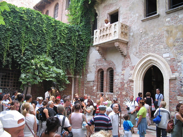 Giulietta's balcony in Verona