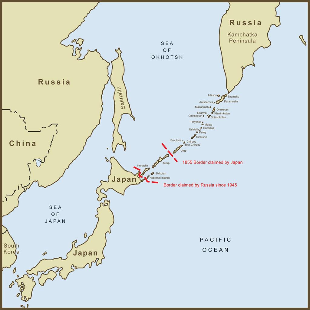 A Map Of The Kuril Islands Border Dispute Between Japan An Flickr