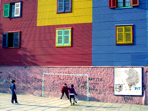 Street soccer in Buenos Aires, Argentina