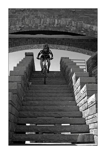 stairway biking