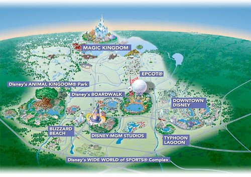 World Disney World overview map Flickr Photo Sharing
