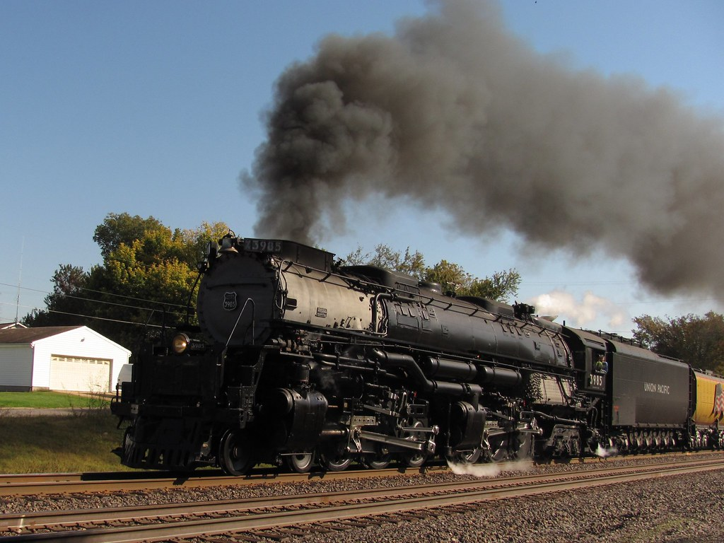 Union Pacific 3985 Challenger Steam Locomotive At Pacific