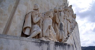 Image of Monument to Afonso de Albuquerque. monument mosaic tagusriver henrythenavigator ageofdiscovery ageofexploration lisbonportugallisboaregiongrandelisboa