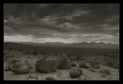 california sunset monochrome landscape desert hdr photomatix nikkor1855mmf3556g