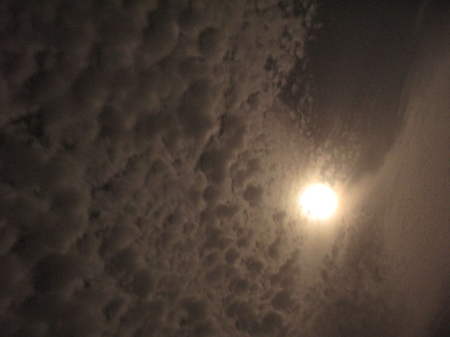 Nighttime Clouds at Masada