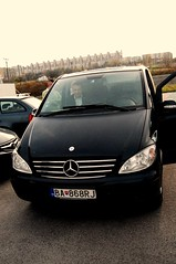 peugeot(0.0), automobile(1.0), automotive exterior(1.0), vehicle(1.0), mercedes-benz viano(1.0), mercedes-benz(1.0), mercedes-benz vito(1.0), bumper(1.0), land vehicle(1.0), luxury vehicle(1.0), hatchback(1.0),