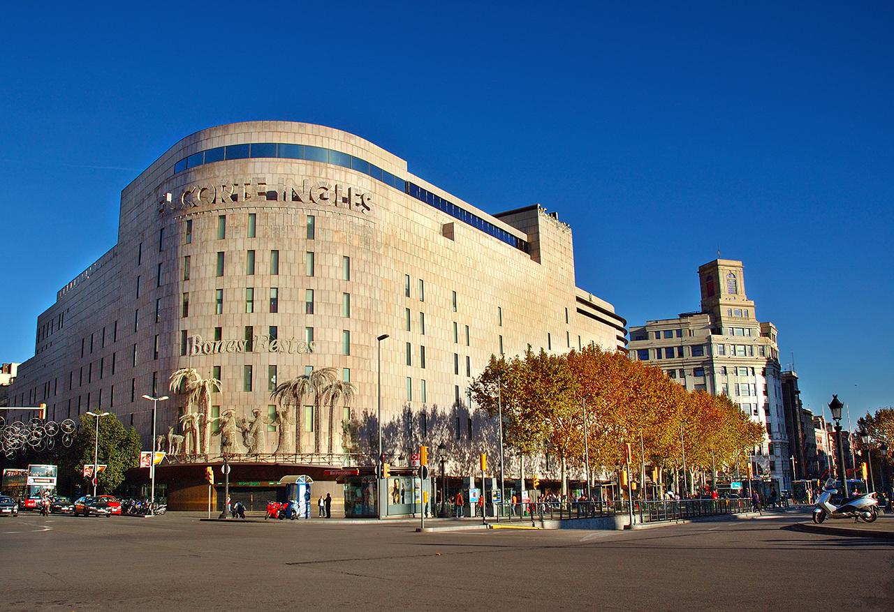 Barcelona photoblog el corte ingles department store at catalonia square barcelona - El corte ingles stores ...