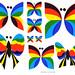 Logix Deco Stickers - Butterflies - 1971 by JasonLiebig