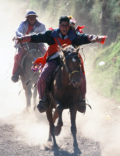 horse race in Todos Santos Guatemala