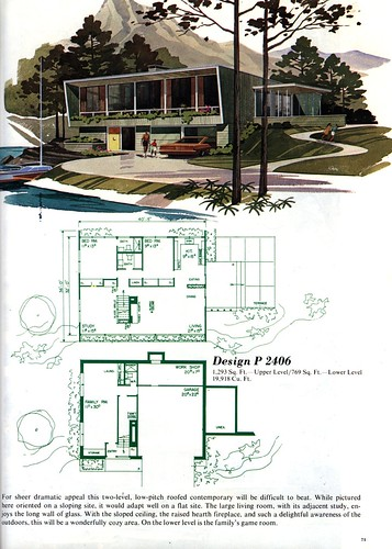 House plans and home designs free blog archive mid for Mid century modern floor plans