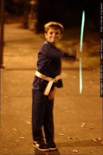 prince ashitaka demonstrates his rave glowstick / nunchaku mashup