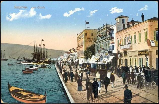 Karpostallarda yangından önce İzmir, Kordon  Explore ...