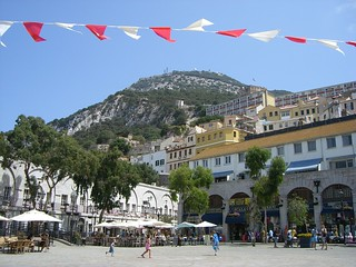 Grand Casemates Square, looking up to Rock Gun, Gibraltar